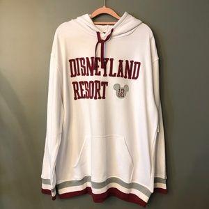 Disney Parks Disneyland Resort White Red Hoodie